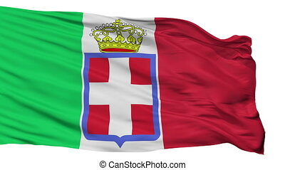 Italy 1860 Flag Isolated Seamless Loop - Italy 1860 Flag,...
