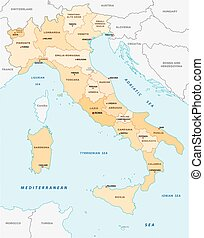 italy administrative map