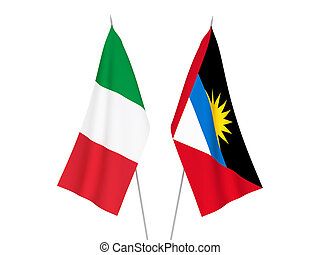 Italy and Antigua and Barbuda flags - National fabric flags ...