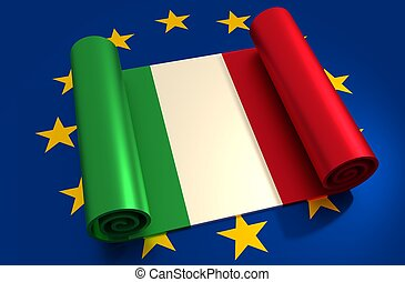 Italy and European Union relationships. Nexit metaphor