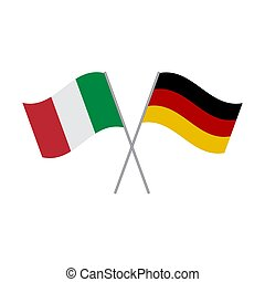 Italy and Germany flags vector isolated on white background