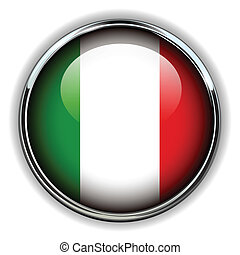 Italy button - Italy flag button