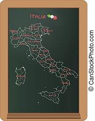 Italy chalkboard
