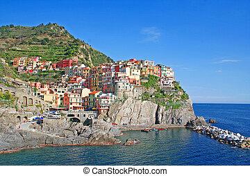 Italy. Cinque Terre. Manarola - Italy. Cinque Terre region....