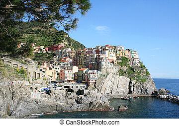 Italy. Cinque Terre. Manarola village - Italy. Cinque Terre....