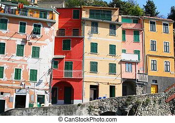 Italy. Cinque Terre region. Riomaggiore village - Italy....