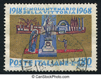 ITALY - CIRCA 1968: stamp printed by Italy, shows The Unknown Soldier, circa 1968