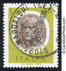 Andrea Mantegna - ITALY - CIRCA 1974: stamp printed by Italy...