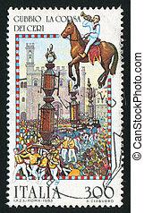 Folk Celebration - ITALY - CIRCA 1983: stamp printed by ...
