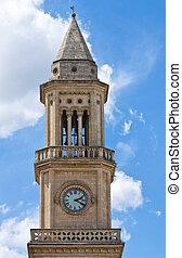 italy., clocktower., altamura., puglia.