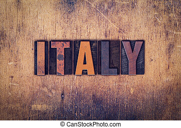 Italy Concept Wooden Letterpress Type