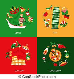 Italy decorative set