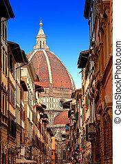 italy., del, santa, fiore, catedral, florence., maria