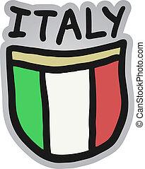 Italy draw shield - Creative design of italy draw shield