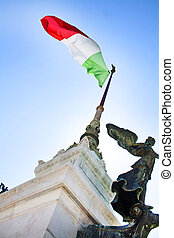 Italy flag at The Altar