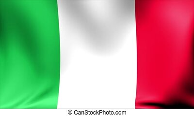 Italy Flag. Background Seamless Looping Animation.