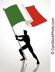 Italy Flag Bearer