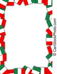Illustration of a frame made of Italian flags