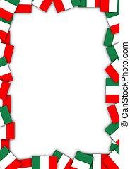 Italy flag border - Illustration of a frame made of Italian...