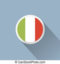 Italy Flag Button Icon