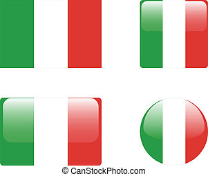 Italy flag & buttons