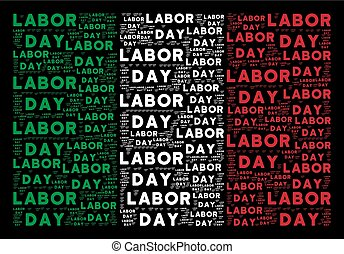 Italy Flag Collage of Labor Day Texts