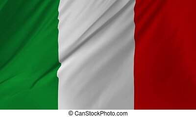 Italy flag fabric texture waving in the wind 2 in 1 - Italy...
