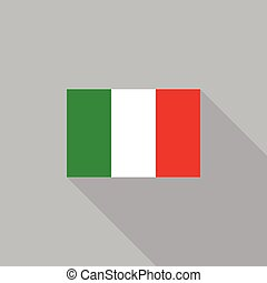 Italy flag flat design vector illustration