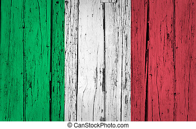 Italy Flag Grunge Background
