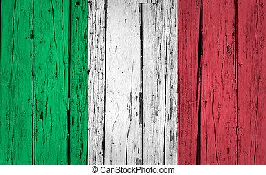 Italy Flag Grunge Background