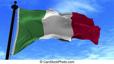 Italy Flag in the Wind