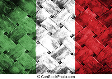 Italy flag , Italy flag on Weave Bamboo