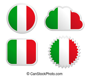 Italy flag labels