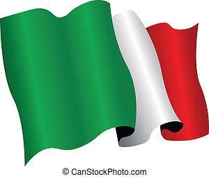 italy flag - national flag of ltaly