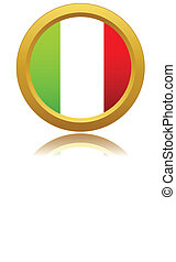 Italy flag on button