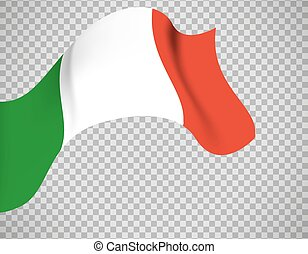 Italy flag on transparent background