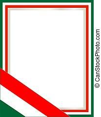 Italy flag patriotic frame.