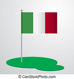 Italy Flag Pole