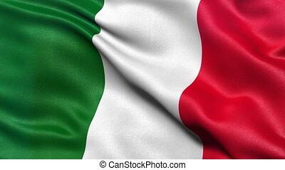 Italy flag seamless loop