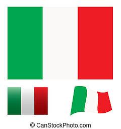 Italy flag set