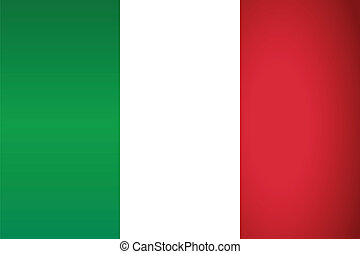 Italy Flag. Vector illustration.