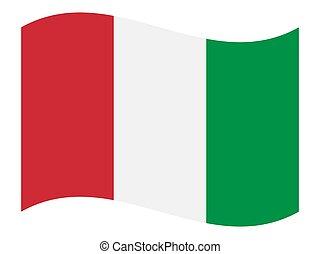 Italy flag, vector illustration.