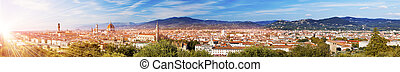 Italy. Florence. View of the city on top. Panorama