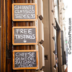 Italy, Florence. Wine shop selling local wines