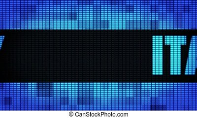 ITALY Front Text Scrolling LED Wall Pannel Display Sign...