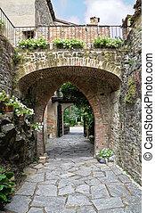 italy., gropparello, castle., emilia-romagna.