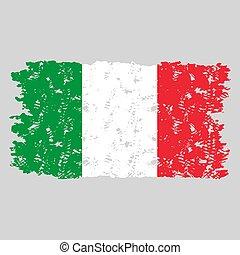 Italy grunge flag texture