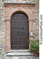 italy., house., travo., emilia-romagna., 典型的