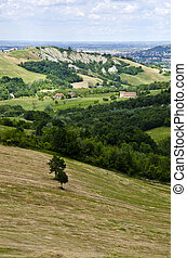 Italy - Idyllic View From The Hill