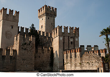 Italy, lake Garda, Sirmione, The Scaliger Castle